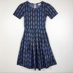 LuLaRoe Amelia Dress XXS Arrow Print